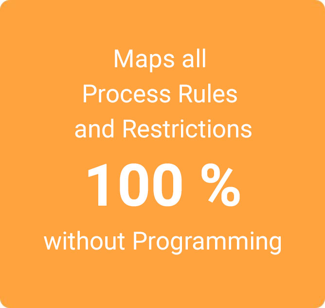 [Translate to US:] Maps all Process Rules and Restrictions 100 % without Programming